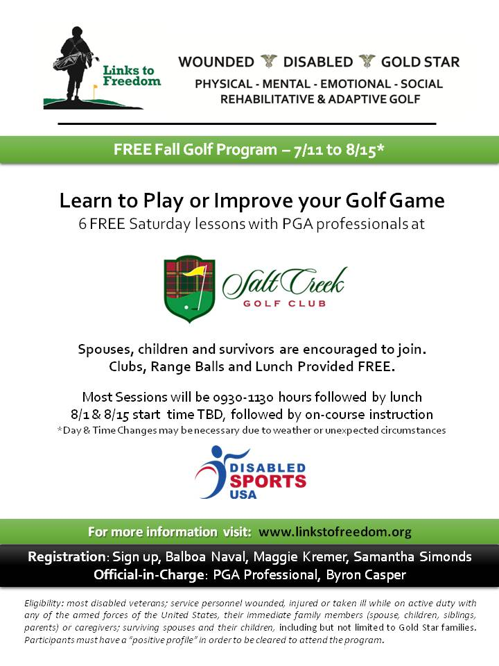 San Diego L2F Golf Program